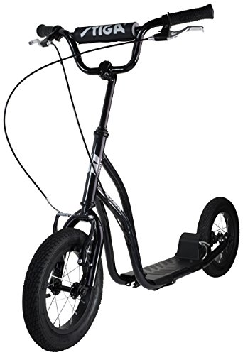 Stiga STR Air 12 Zoll Kickscooter, Black, One Size