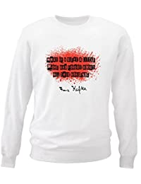 Teesquare1st Men's FRANZ KAFKA WHAT IF I SLEPT White Sweatshirt