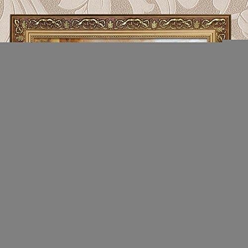Olio su tela con cornice cottage portico casa still life pittura fiori e piante micro-iniezione verniciatura decorativa,40 * 50