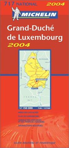 Carte routière : Grand Duché du Luxembourg, N°11717 par Cartes NATIONAL Michelin
