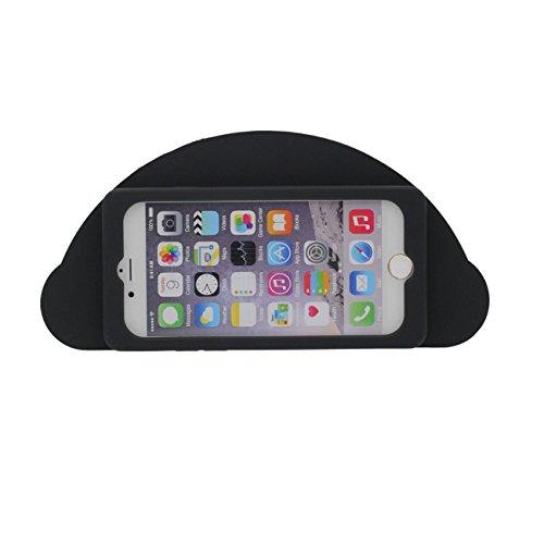 Original Désign Mignonne 3D Cartoon Style Yeux Forme Souple Silicone Coque Etui de Protection Case pour Apple iPhone 7 Plus 5.5 inch noir-
