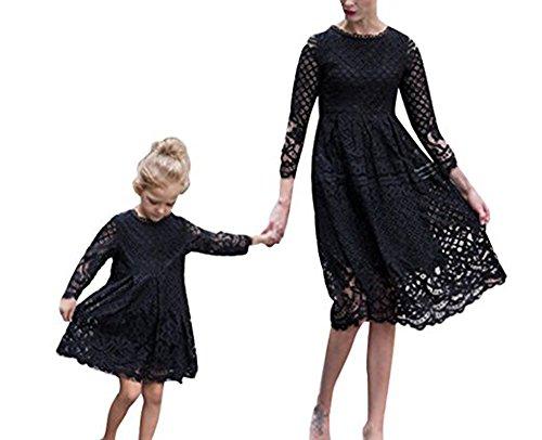 Kostüm Tochter Mama Und Passenden - keephen Mutter Baby Spitzenkleid Mama und Tochter mit Kleid Frühling Sommerkleid Strandkleid Lady Mini Dress