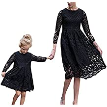 Vestido de Encaje de Madre e Hija con Vestido Vestido de Verano de niña Vestido Largo
