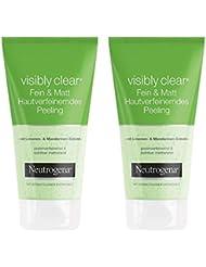 Neutrogena Visibly Clear Fein & Matt Hautverfeinerndes Peeling – Porenbefreiendes und mattierendes Waschpeeling mit Limone und Mandarinen-Extrakt – 2 x 150ml