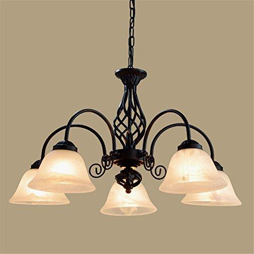ShengYe stile rustico plafoniera lampada a sospensione Lampadari Lampade in ferro battuto retrò 5 soggiorno le luci sulla testa 3 head bar chandelier luce da soffitto
