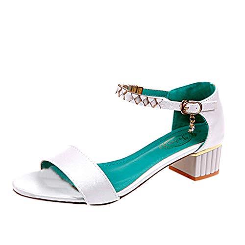 ODRD Sandalen Shoes Damenmode Slip Open Toe Party Schuhe Einteilige Schnalle Dicke Sandalen Freizeit Schuhe Strandschuhe Freizeitschuhe Turnschuhe Hausschuhe Pumps Slipper