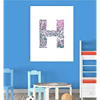 Alphabet H Nursery Children Educational Early Learning Poster Print Wall Art V2 - Compare prices and find best deal online