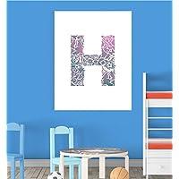 Alphabet H Nursery Children Educational Early Learning Poster Print Wall Art V2 preiswert