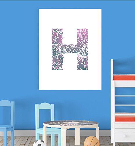 Inspired Walls Alfabeto H la cameretta dei Bambini educativo Early Learning Poster Stampa Wall Art V2 - Best Price
