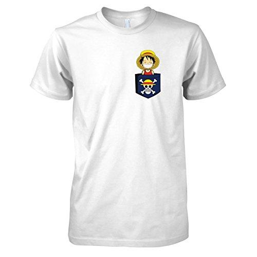 Fun Kostüm Unlimited - Texlab - Taschenpirat - Herren T-Shirt, Größe L, weiß