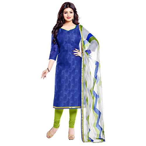 Applecreation-Womens-Cotton-Salwar-Suit-Dress-Material-OSC1010Blue0