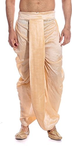 Larwa-Mens-Beige-Free-Size-Dhoti-Special-for-Diwali