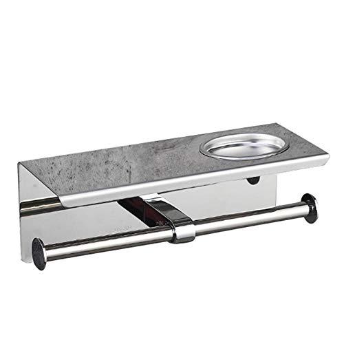 Edelstahl Bad Papierhalter Bad Handtuchhalter Toilettenpapierhalter mit Aschenbecher Multifunktionswand montiert
