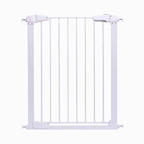 Türschutzgitter Hohe Extra-Breite Baby-Tor-Druck-angebrachte Innensicherheits-Tore für Treppen-Flur-Eingang Einfach Geöffnetes Weiß, Höhe 1m, 77-123cm Weit (Größe : 87-93cm) (Die Tore Weit Hund)
