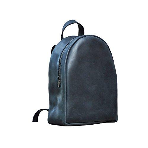 Mini Leder Rucksack schwarz. Saddleback Rucksäcke. Handgefertigte Geldbörse für Frau (Clava Damen Aktentasche)