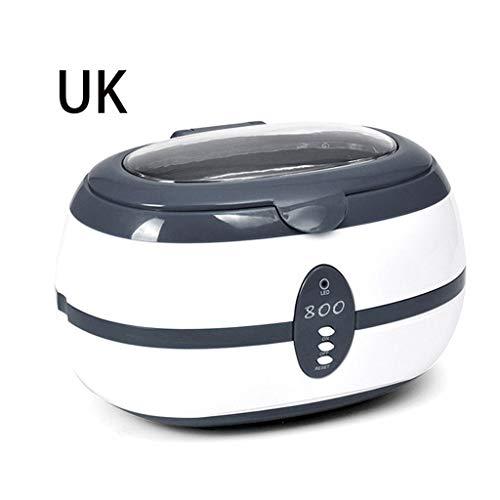 BIlinli VGT-800 Máquina de Limpieza por ultrasonidos 600 ML para joyería Anteojos Reloj Dental Equipo de Laboratorio médico de Vidrio Reino Unido/EE. UU. / UE Enchufe