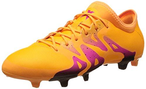 adidas X 15.2 Fg/Ag, Scarpe da Calcio Uomo Arancione (Solar Gold/Core Black/Shock Pink)