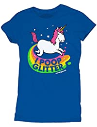 I Poop Glitter Womens Unicorn Tshirt