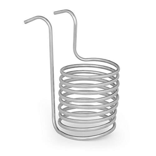 Klarstein Chiller 6 Eintauchkühler - Wasserkühlspirale, Würzekühler, schnelle Abkühlung der Biermaische, 20 cm Ø, 9 Kühlschleifen, 100 °C auf Raumtemperatur in 30 Minuten, Edelstahl, silber