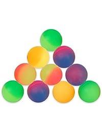 S/O® 10er Pack Flummi Frost 27mm Flummis Springball Hüpfball Mitgebsel Tombola Kindergeburtstag Gummiball Springball Hüpfbälle