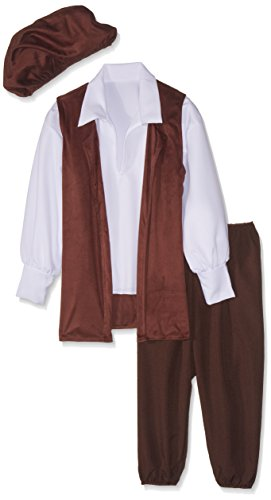 RG Costumes Renaissance Boy Costume, Brown/White, Small by RG Costumes