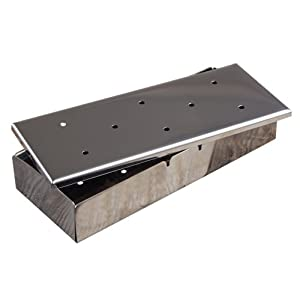 41AGfbODcfL. SS300  - Charcoal Companion CC3021 Stainless Smoker Box with Lid, Silver
