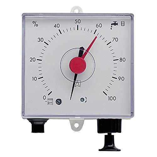 Volumen Wassertank (Füllstandsanzeige 3P Pneumatische Fernanzeige inkl. 10 m Messleitung für eine Prozentuelle Anzeige des belegten Volumens in der Zisterne oder Regenwassertank.)
