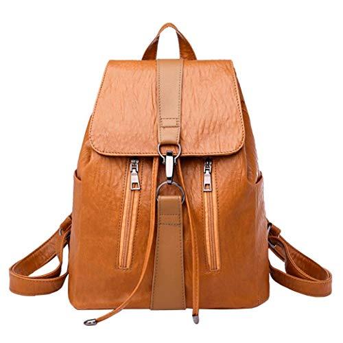 Vintage ragazza pelle scuola borsa zaino cartella donne viaggio spalla borsa