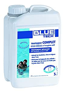 Blue Tech BL520007 Traitement Complet sans Chlore pour piscine et bacs à sable 3 L