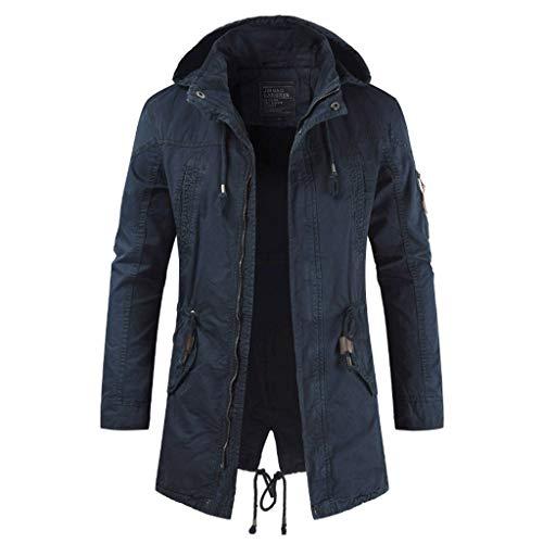 Herren Jacke, sunnymi Long Jacket Jacke für Freizeitmode Einfache bequemen Mantel (Sets Grau Tröster Bettwäsche)