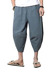 BOLAWOO-77 Pantaloni Harem Allentati Uomini Pantaloni Bloomers Uomini  Aladdin Pantaloni Mode di Marca Estivi Hip Hop Pantaloni Casual per… 0d1568b03f5e