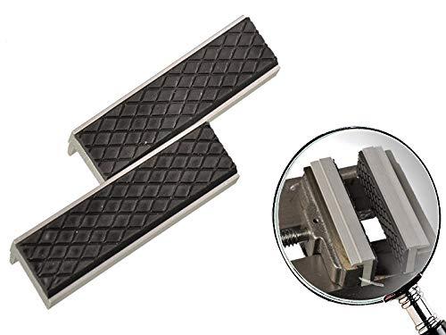 2 teiliges Set Schutzbacken für Schraubstock weich 100mm mit magnetischer Rückseite