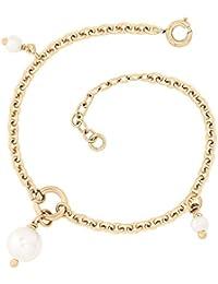 Bracelet - Plaqué or - Perle d'imitation - 19 cm - 4202147