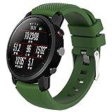 Bestow Garmin Fenix 3 Reloj GPS Silicagel Banda Suave Banda de Reloj Reloj Elegante Reloj de Pulsera de aparatos electr¨nicos Gadgets (Ejercito Verde01)