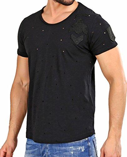 Red Bridge Uomo Maglieria / T-shirt Bullet Holes Nero