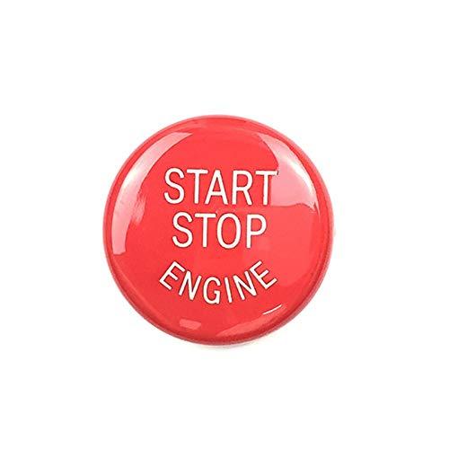 TOOGOO Auto Motor Start Stop Schalter Taste Ersetzen Abdeckung E60 E70 E71 E90 E92 E93 (Rot,Mit Start Stop Engine) -