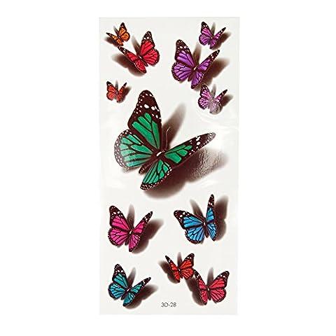 Jardin Rêvé Accessoire Pour Déguisement Tatouage Temporaire Femme Tattoo
