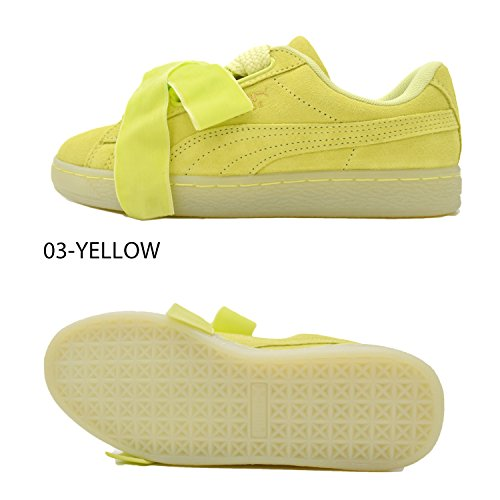 Puma Suede Heart Reset Wns 36322902, Turnschuhe Yellow
