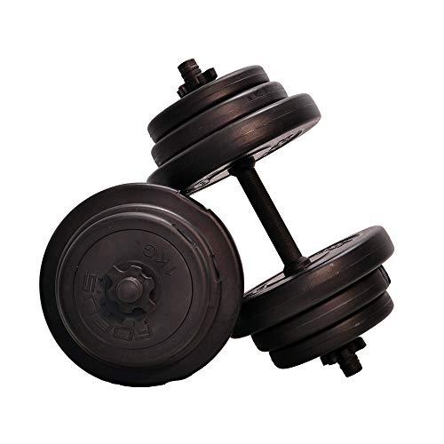 Focus Fitness Kit d'haltères réglables pour Homme et Femme Noir 20 kg