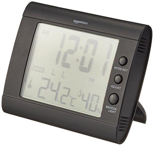 AmazonBasics - Digitales Thermo-Hygrometer - Schwarz