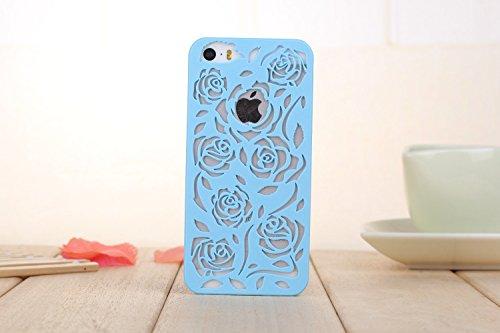 Coque iPhone 6 Plus/6s Plus , iNenk® Hot Summer Slim couleur modèle creux téléphone Rose rétro Shell manchon protecteur Etui PC couverture mode marée-jaune Bleu