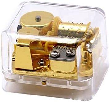 FnLy Boîte à Musique 18 Notes en Plastique Plastique Plastique Acrylique Transparent Motif La Belle et la Bête   Coût Modéré  fbb7ea