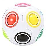 Acefun Magic Regenbogen Ball Kugelförmiger Würfel Ball Fußball Speed Cube Puzzle Cube (11 Farben)