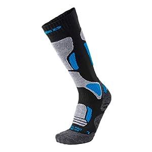 XAED, calzini da sci, da uomo, colore nero/blu, taglia 39/41, calzini uomo