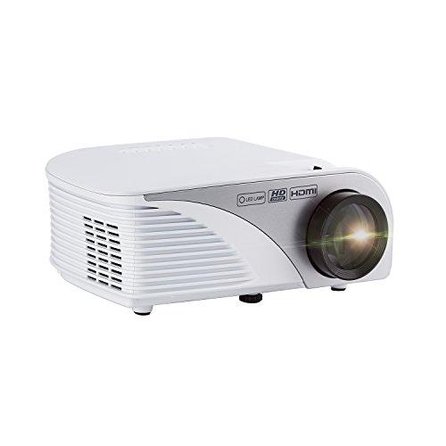 Mini Beamer YKS Aktualisiert Mini LED Beamer, 1300Lumens Tragbar Projektor,1080p HD LCD Heimkino Theater HDMI / VGA / USB / AV / TV für Video, Film, Games Night