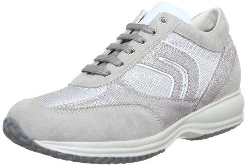 Geox D Happy R, Sneaker Donna Grigio (GREY/SILVER C0570)