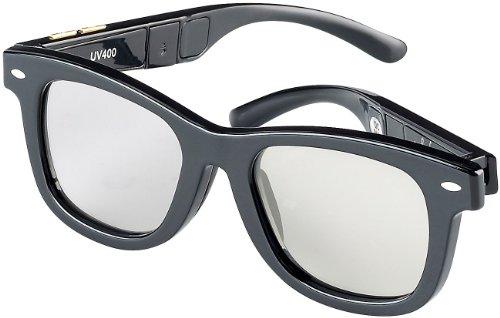 infactory Sonnenbrille LCD: Retro-Sonnenbrille mit einstellbarer Tönung (UV400) (Selbsttönende Brille)
