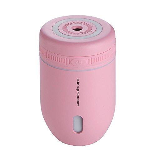 CFZHANG Cup Luftbefeuchter Mini USB kreative Nacht Licht Desktop Büro Luft Zerstäuber Geschenk , pink