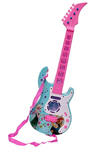 Toyshine Musical Guitar with Music, Lights and Pre-loaded Sounds, Pink Blue