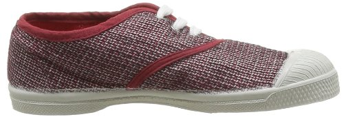 Bensimon Tennis Fancy Linen, Unisex - Kinder Sneaker Rot - Rouge (Rouge 310)